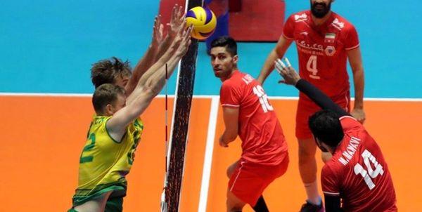 پیروزی والیبال ایران در دیدار دوستانه مقابل استرالیا