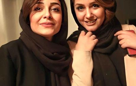 ساره بیات در کنار دوستش + عکس