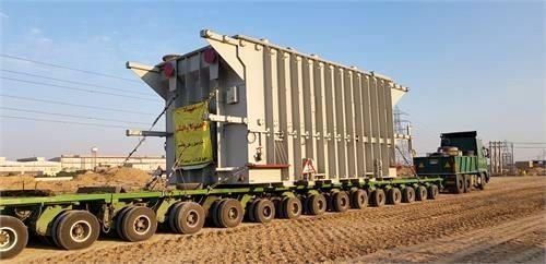 ترانسفورماتور پست 400/230 کیلو ولت آرنا وارد سایت پروژه فولاد خوزستان شد
