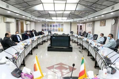 دیدار مدیرعامل شرکت فولاد خوزستان با مدیرعامل شرکت فولاد اکسین