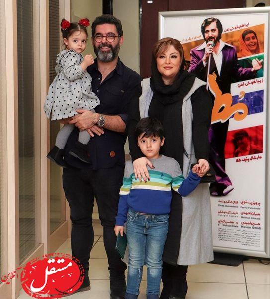 خانواده کارگردان مشهور در اکران خصوصی + عکس
