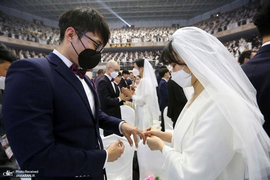 وقتی ماسک به لباس عروسی اضافه میشود