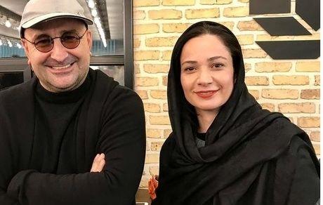 نسرین نصرتی، فهمیه سریال پایتخت در کنار همسرش + عکس