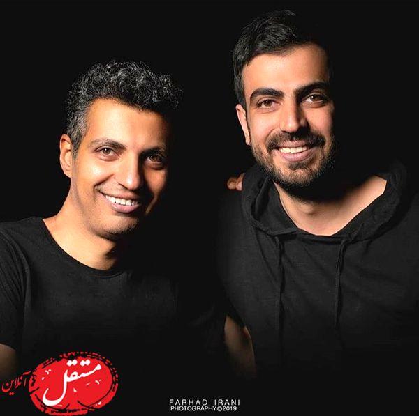 عادل فردوسی پور و برادرش + عکس