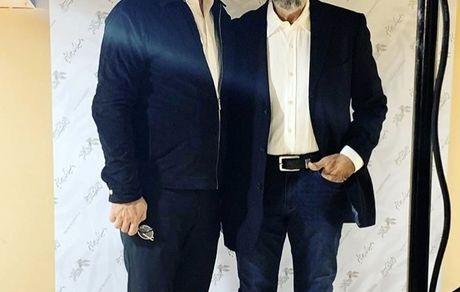 فرامرز قریبیان و پسرش + عکس