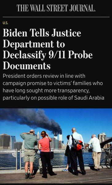 بایدن دستور انتشار اسناد ۱۱ سپتامبر را صادر کرد