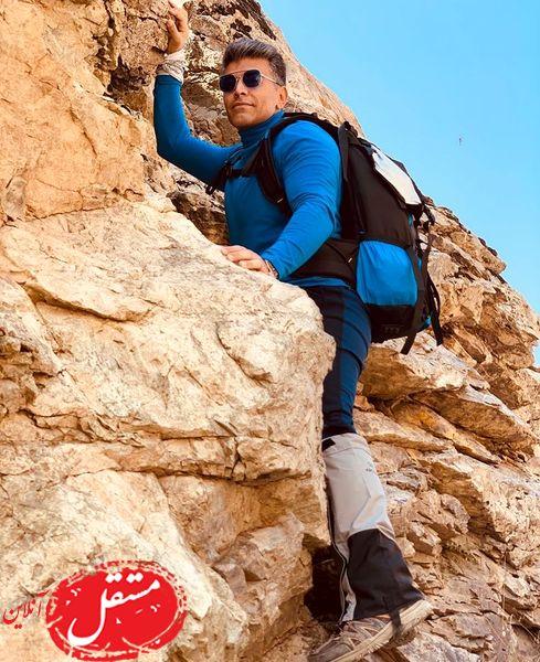 کوهنوردی بازیگر مانکن + عکس