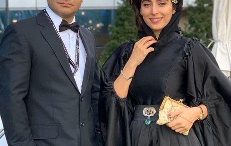 آناهیتا افشاری و همسرش + عکس