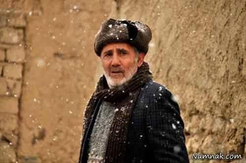 عکس مجید مظفری با کلاه پشمی
