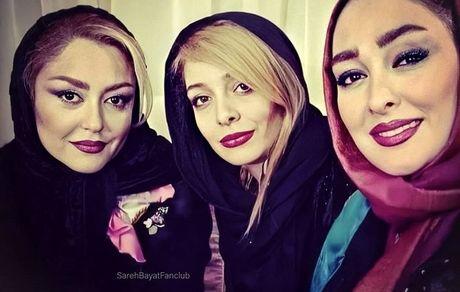 ساره بیات در میان خانم های بازیگر + عکس
