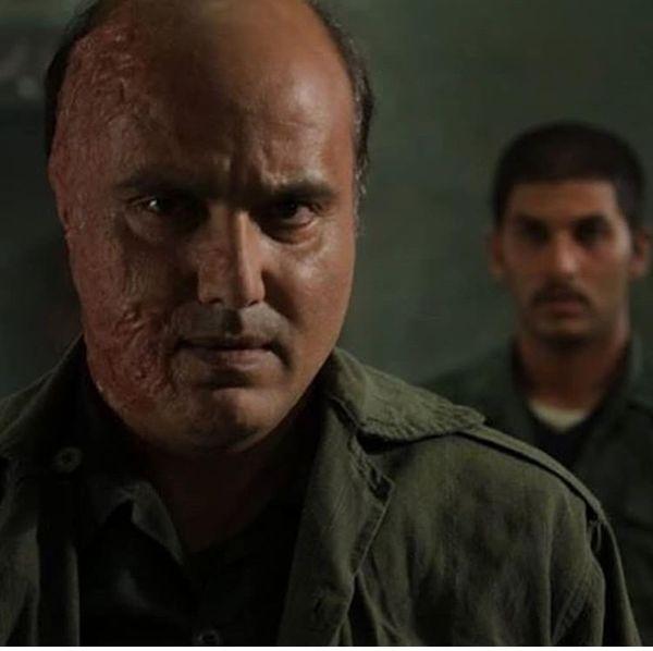 سعید داخ با گریم حرفهای صورت سوخته + عکس