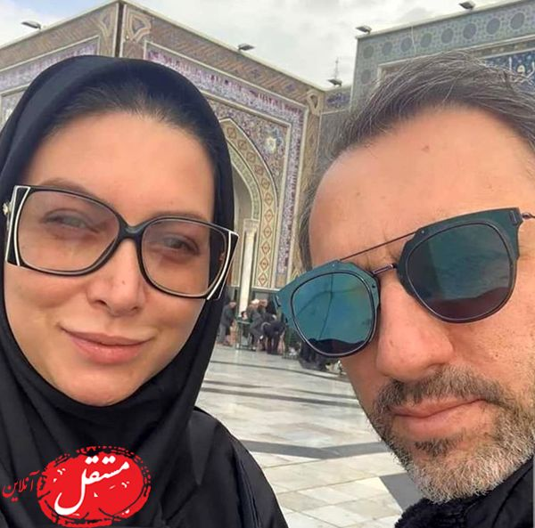 فریبا نادری و همسرش در زیارت + عکس