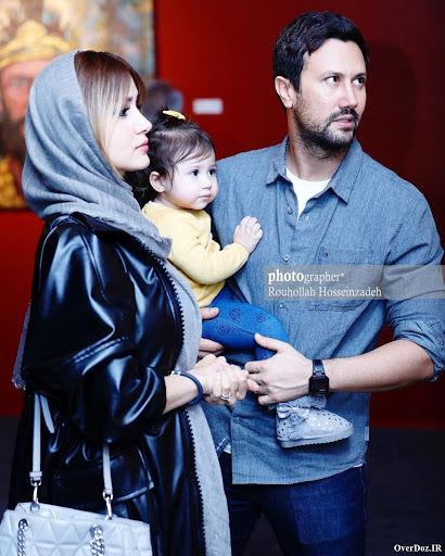 عکسهای شاهرخ استخری و همسرش در نمایشگاه نقاشی سلاطین محمود محکمی ...