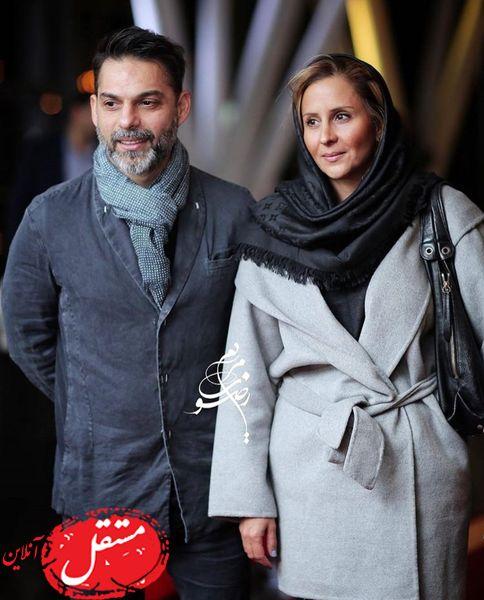 پیمان معادی در کنار همسرش + عکس