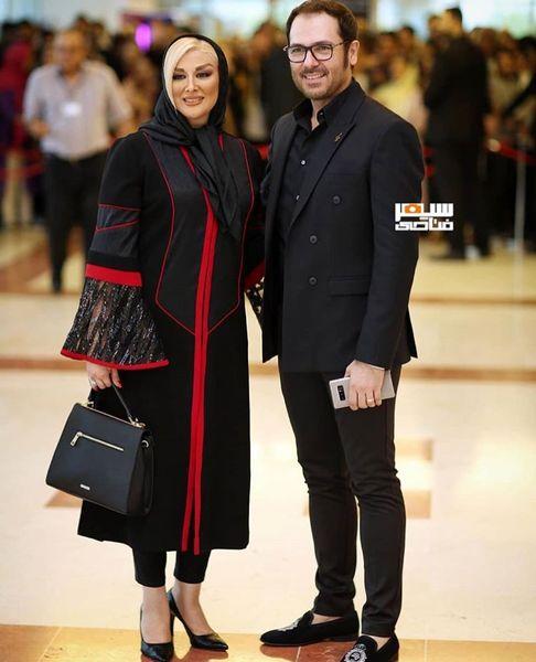 تیپ خاص کوروش تهامی و همسرش + عکس