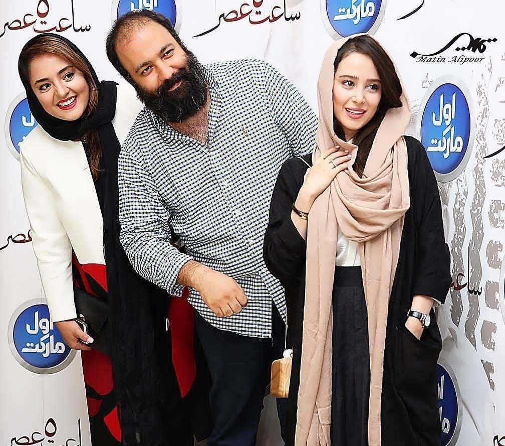 دورهمی نرگس محمدی و همسرش با دیگر بازیگران در رستوران
