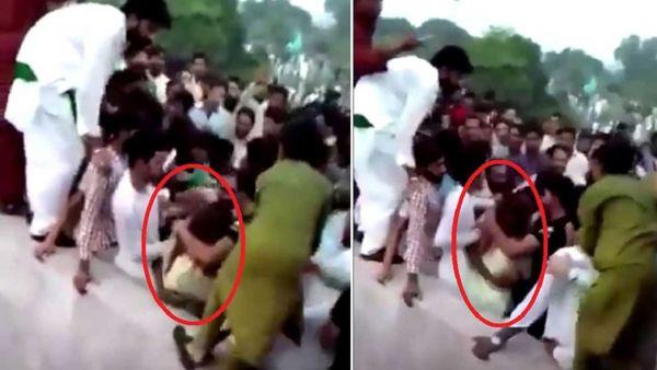 حمله وحشیانه چند مرد به یک دختر اینفلوئنسر در خیابان