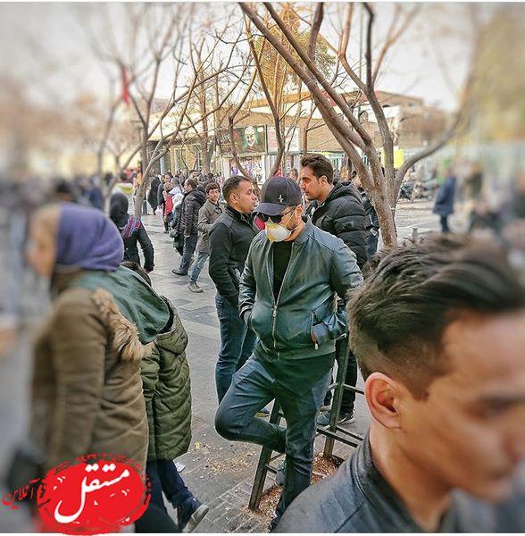 حضور بازیگر مشهور در بازار تهران + عکس