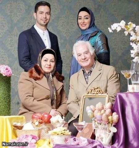 عکس پدر و مادر و برادر الهام حمیدی