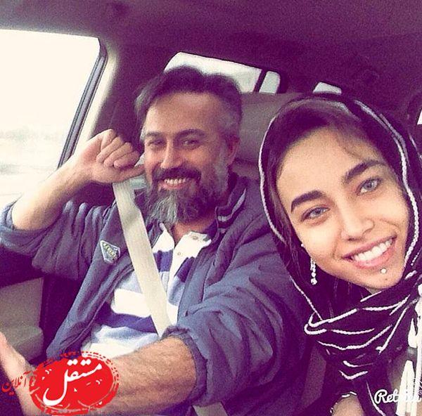 دانیال حکیمی و دخترش در ماشین شخصیشون + عکس
