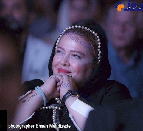 عکس/خالکوبی دست بهاره رهنما در جشن خانه سینما