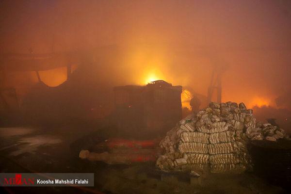جزئیات آتش سوزی عظیم خیابان شوش تهران + جزئیات و تصاویر