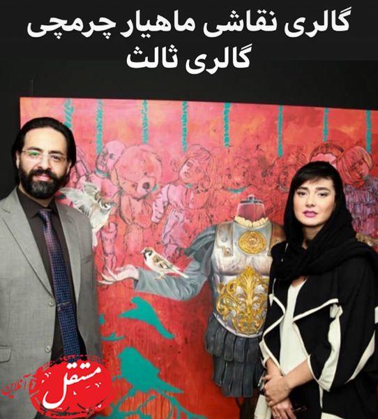 مینا وحید در گالری نقاشی نقاش معروف + عکس