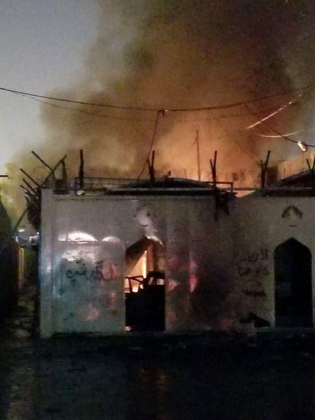 آتش زدن دوباره کنسولگری ایران در نجف