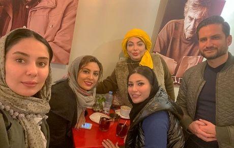 شیوا طاهری در کنار بازیگران مشهور + عکس