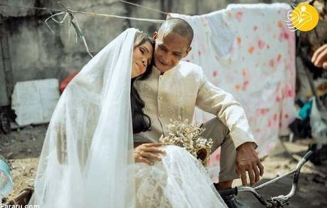 مراسم عروسی زوج بی خانمان بعد از 24 سال + تصاویر