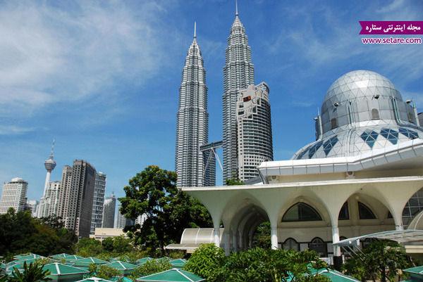 برچ های دوقلو، برج پتروناس، مالزی، کوآلالامپور، بلندترین برج های جهان