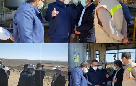 بازدید مدیرعامل شرکت تهیه و تولید مواد معدنی ایران از مجتمع پتاس خور و بیابانک