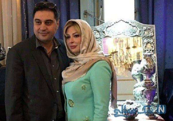 نیوشا ضیغمی و همسر | نیوشا ضیغمی و همسرش آرش پولادخان تاجر نقره