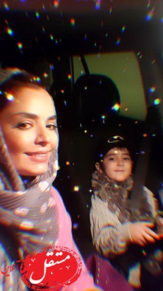 ستاره بارون شدن شب سپیده خداوردی و پسرش + عکس