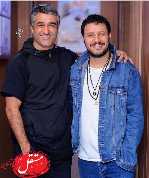 جواد عزتی در کنار فوتبالیست مشهور + عکس