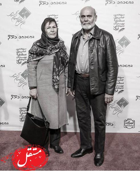 جمشید هاشم پور و همسرش + عکس