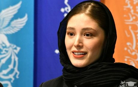 لباس عجیب همسر نوید محمدزاده در نشست خبری + عکس