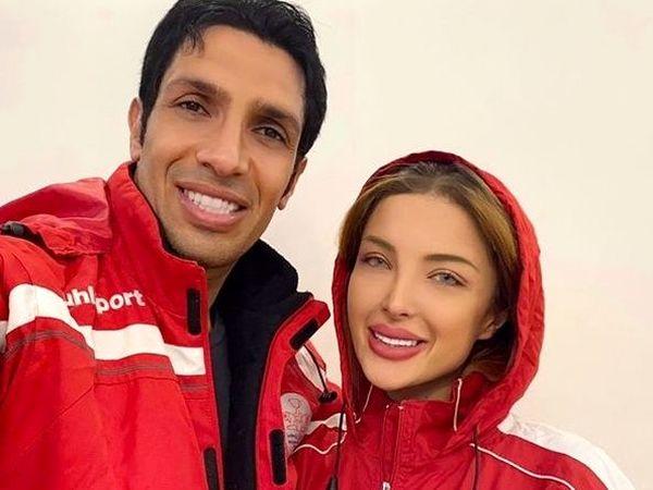 خوش گذرونی سپهر حیدری با همسرش در دبی (عکس)