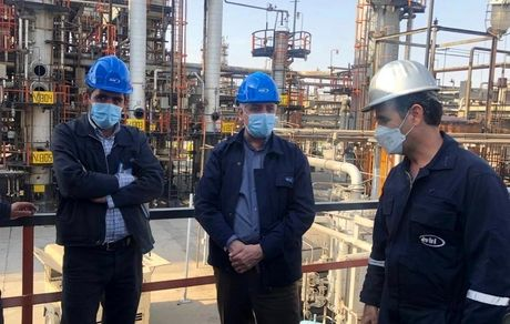 بازدید مدیر عامل شرکت نفت ایرانول از اورهال پالایشگاه روغن سازی تهران