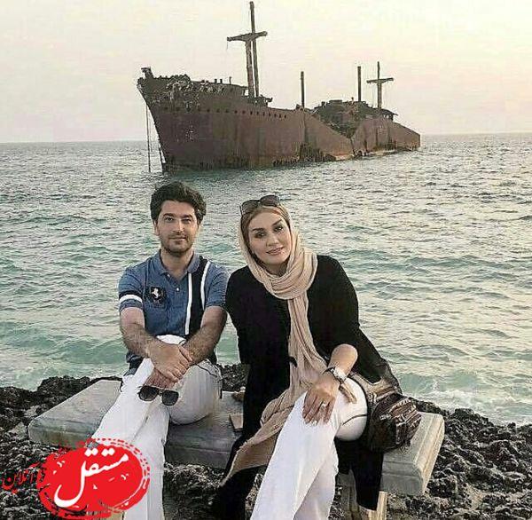 کیش گردی های بازیگر معروف با همسرش + عکس