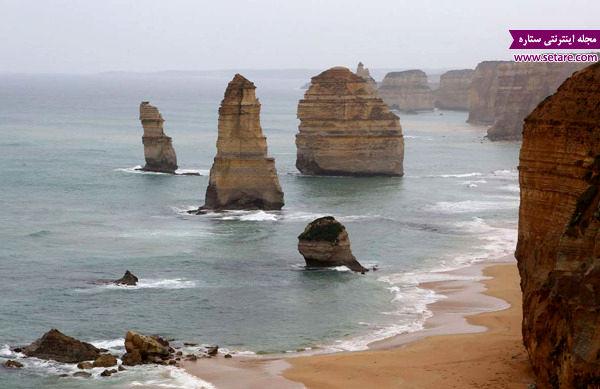 دوازده رسول، ویکتوریا، استرالیا، فرسایش صخره ها