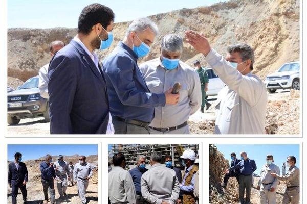 بازدید مدیرعامل شرکت مس از طرح توسعهای معدن و کارخانه تغلیظ درهزار