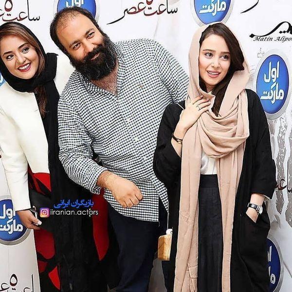 الناز حبیبی در کنار علی اوجی و نرگس محمدی+عکس