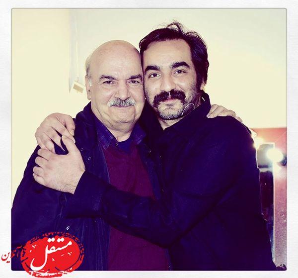 آقای بازیگر در آغوش مجری معروف + عکس