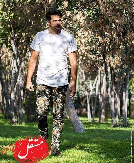 علی ضیا با شلوار سربازی + عکس
