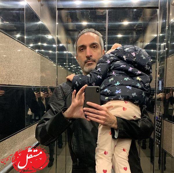 سلفی امیرمهدی ژوله با دختر خوابش + عکس