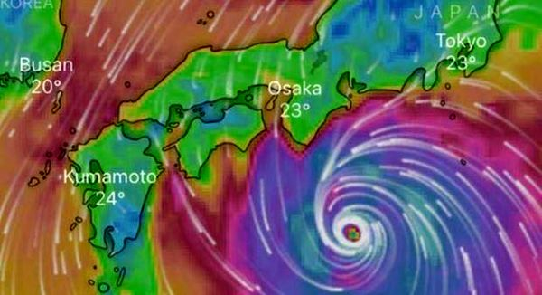 طوفان در  ژاپن و لغو مسابقات