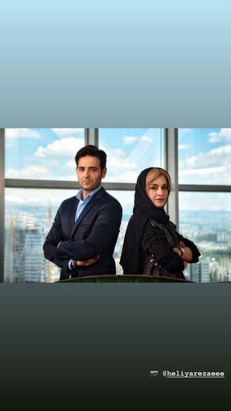 امیرحسن آرمان و همسرش در دفتر کارشون + عکس