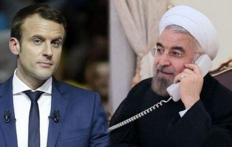 تماس تلفنی روحانی و رئیسجمهور فرانسه