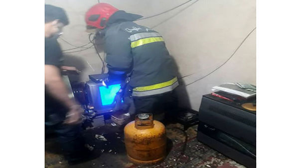 انفجار در اصفهان/ نگهبان زنده زنده سوخت + عکس